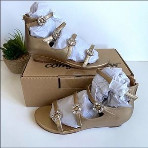 Comfortview jeweled strappy sandals gold 8WW